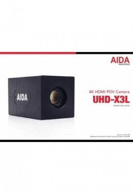 Manual AIDA UHD-X3L Kamera